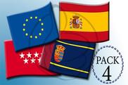 Pack de Paquete 4 banderas para hoteles