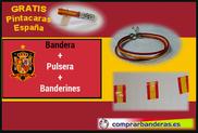 Bandera de España + banderines plástico + pulsera