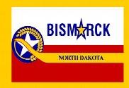Bandera de Bismarck Dakota del Norte