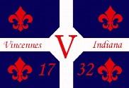 Bandera de Vincennes, Indiana