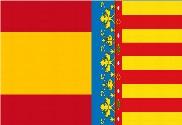 Bandera de España y Comunidad Valenciana