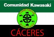 Bandera de Comunidad Kawasaki Cáceres fondo Extremadura