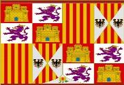 Bandeira do Pendón heráldico de los Reyes Católicos de 1492-1504