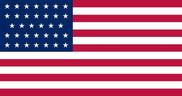 Bandera de Estados Unidos (1861 - 1863)