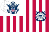 Flag of Ensign of the United States Coast Guard
