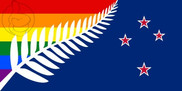 Flag of New Zealand GAY
