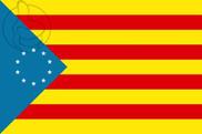 Bandera de Estelada de los Países Catalanes Independentistas
