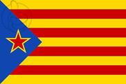 Bandeira do Antiga Estelada blava amb estel roig