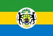 Flag of Gabon with shield