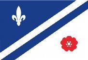 Bandera de Drapeau franco-albertain