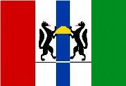 Bandiera di Novosibirsk