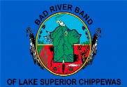 Drapeau de la Bad River Band of Chippewa