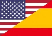 Bandera de Estados Unidos y España