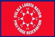 Bandera de Oglala Sioux versión alternativa