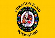 Bandera de Pokagon Band Potawatomi