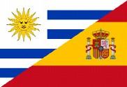 Bandera de Uruguay - España