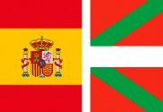 Bandera de España y País Vasco