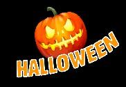 Flag of Halloween pumpkin