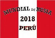 Drapeau de la Coupe du monde russe au Pérou 2018