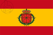 Flag of Navarra -  Escudo Laureado - España