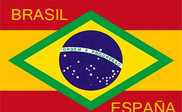 Bandera de Brasil - España