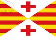 Bandera de Vich (Vic) Horizontal
