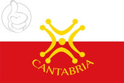 Bandiera di Cantabria con Lábaro