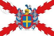 Bandera de Yeste y Cruz de Borgoña