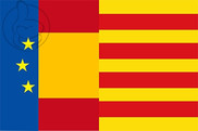 Flag of Europe Spain Catalonia II