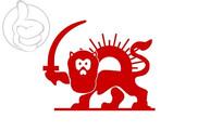 Bandera de León y Sol Rojos