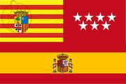 Bandera de Aragón Madrid España