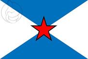 Bandera de Pontevedra con estrella