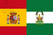 Flag of Spain and Andalusia W/S