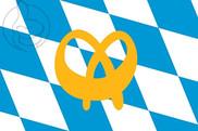 Bandera de Baviera con logo