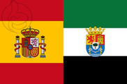 Flag of Spain and Extremadura C/E