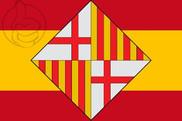 Bandera de España escudo Barcelona