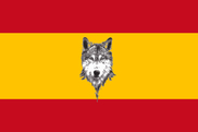 Flag of Spain with Wolf