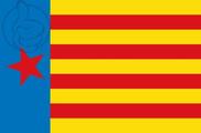 Bandeira do Estrelada de Esquerra Valenciana