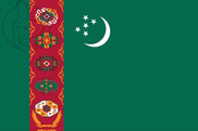 Bandeira do Turkmenistán