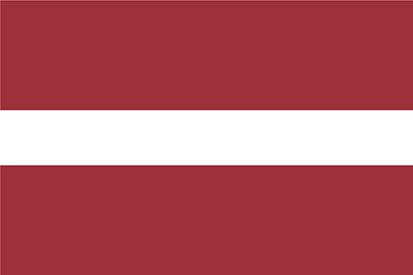 Bandera Lettonie