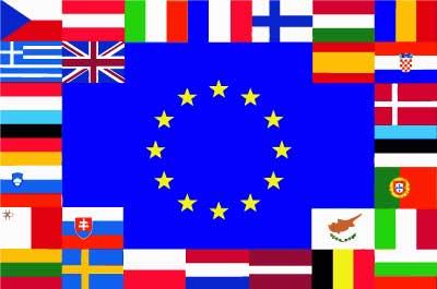 Bandera Países Unión Europea
