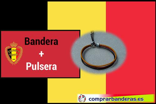 Bandera Bélgica + pulsera
