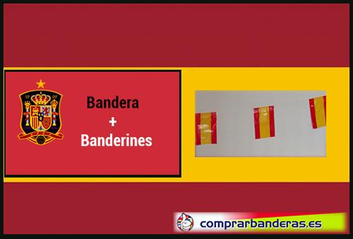 Bandera España + Banderines