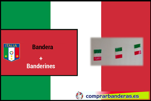 Bandera Italia + Banderines