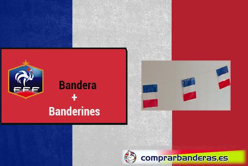 Bandera Francia + Banderines