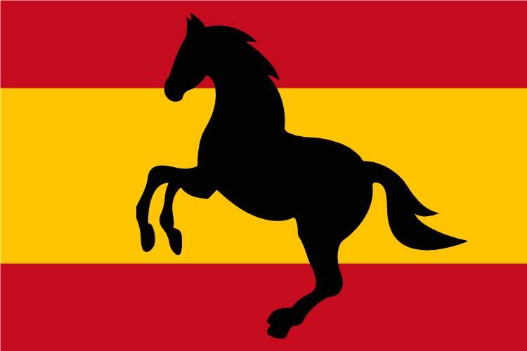Bandera España caballo