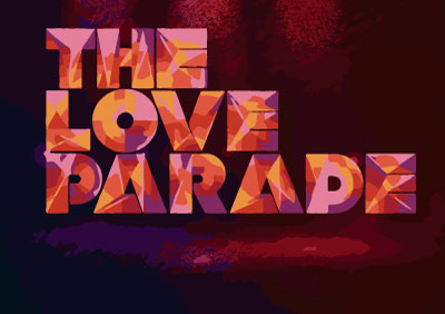 Bandera The love parade