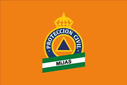 Bandera Protección Civil Mijas