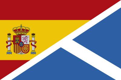 Bandera España Escocia