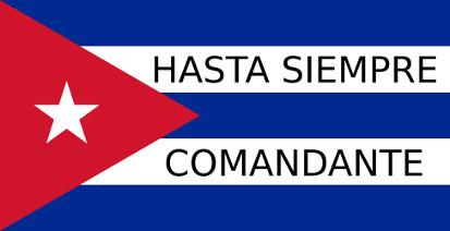 Bandera Cuba Hasta siempre comandante